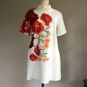 Cameo Floral Poppy Dress